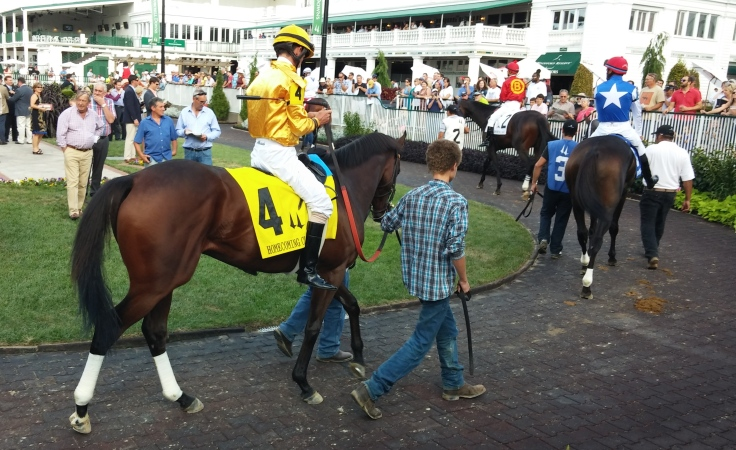 Departing looked fabulous in the paddock before the Homecoming Classic.