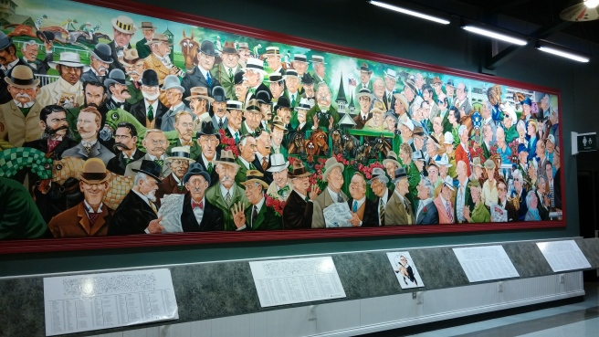 The best thing about the trainer mural is the look on Lucien Laurin's face.
