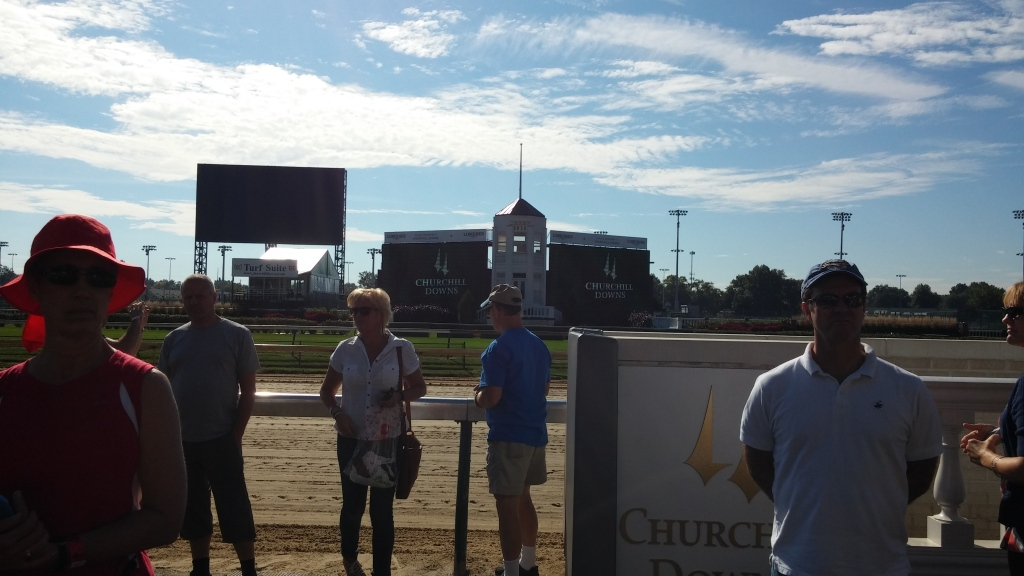 I'm not there with a horse, at least not yet, but at least I have now seen the view from the Churchill winners' circle.