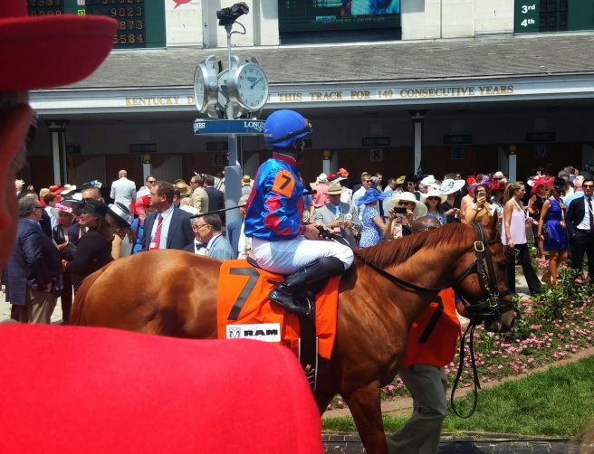 Nun the Less, who broke his maiden at Arlington last summer, heads out for the American Turf with Jose Lezcano aboard.