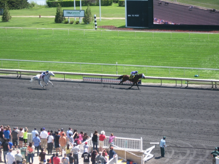 In Saturday's Arlington 5th, Prince Cheval cannot quite catch Hollow Creek.
